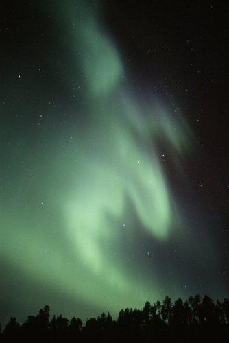 Aurora sobre Inari (Finlandia)