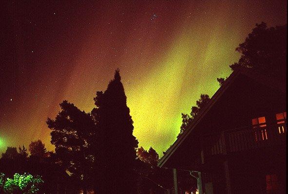 Aurora sobre Vaasa (Finlandia)