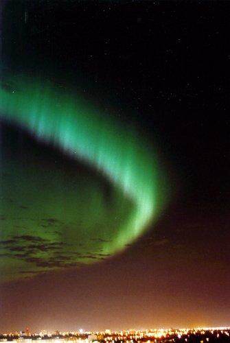 Aurora sobre Winnipeg (Canadá)