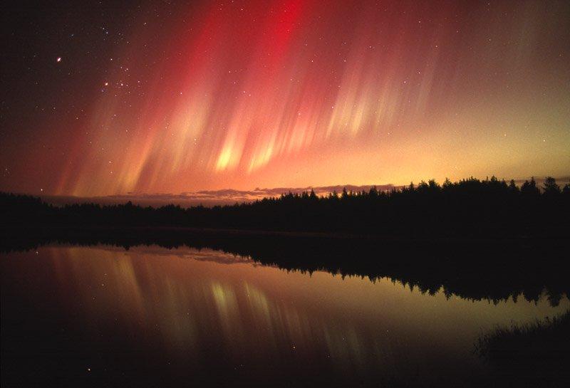 Aurora sobre Oulu (Finlandia)