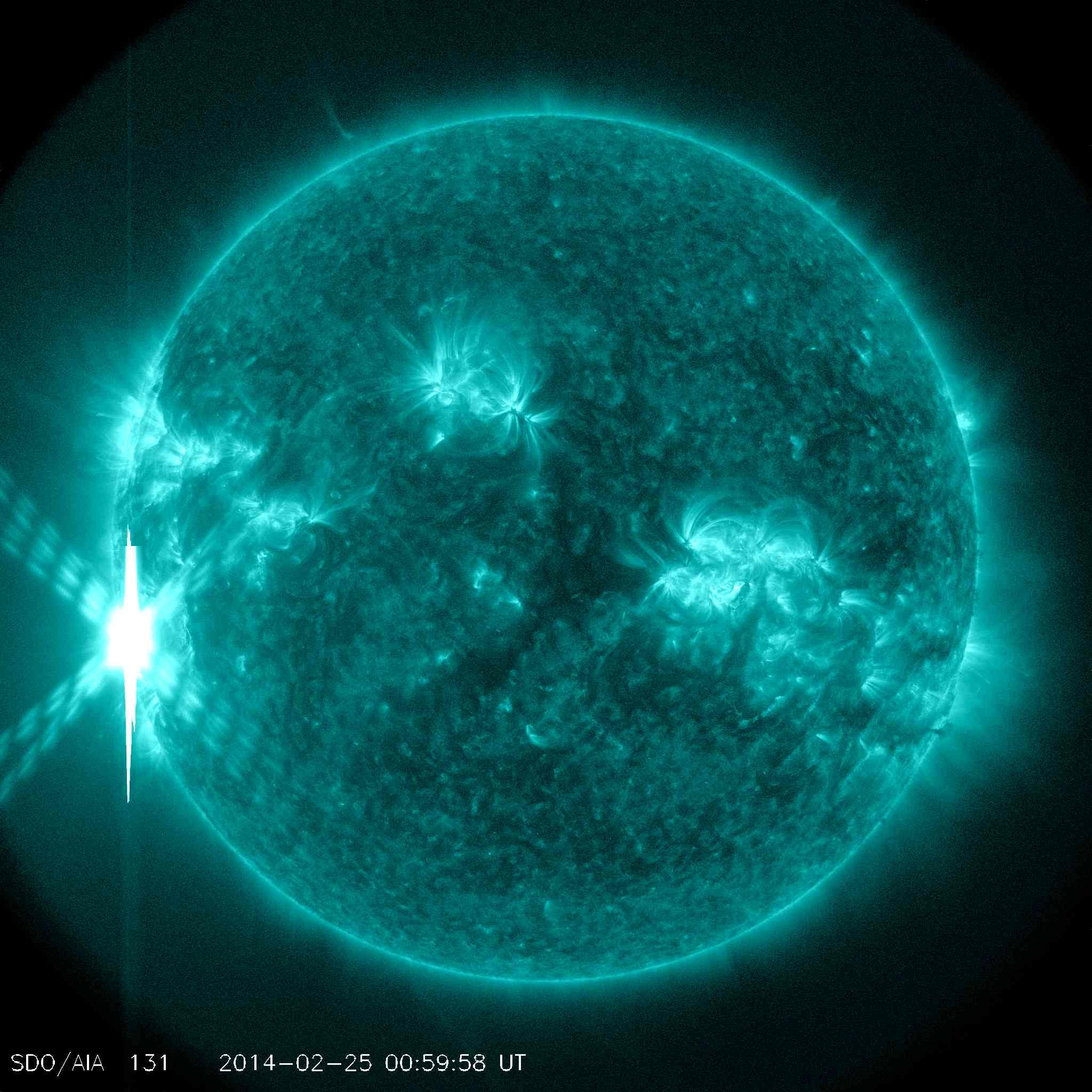Aktueller Solarflare am 25.02.2014