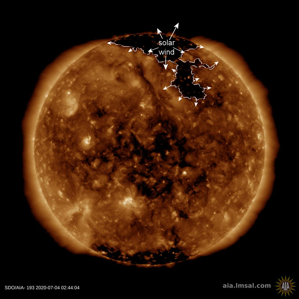 News Burst 4 July 2020 - Northern hole in the Sun's atmosphere