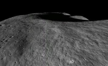 تصویر قسمتی از ماه از دید کاوشگر ژاپنی کاگویا